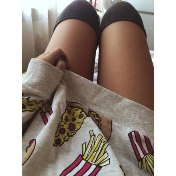 cardigan pizza hot dog fries jumper