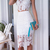 White Sleeveless Floral Crochet Top With Lace Skirt -SheIn(Sheinside)