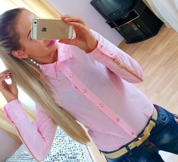 Lethalbeauty ? button up zipper sleeves blouse