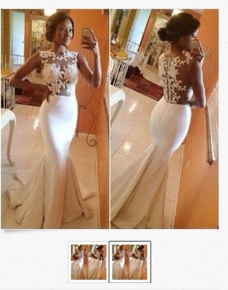 dress white dress wedding dress wedding elegant dress elegant model