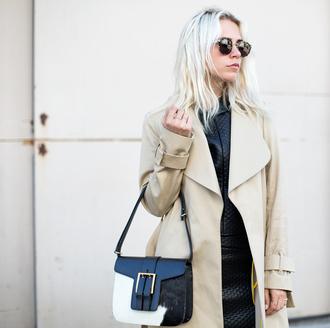 always judging blogger coat top skirt sunglasses shoes bag