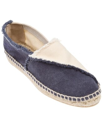 women espadrilles cotton blue shoes