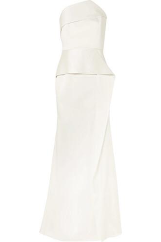 gown white satin dress