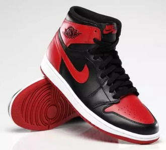 shoes nike bred 1s retro air jordan's black and red
