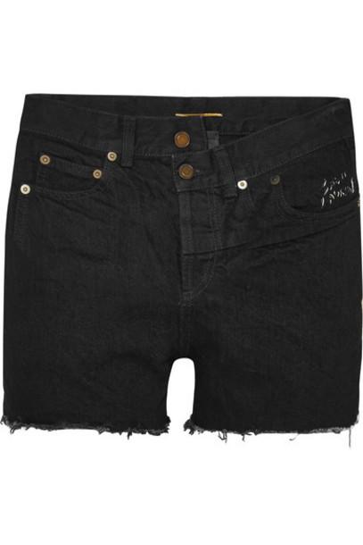 Saint Laurent shorts denim shorts denim black