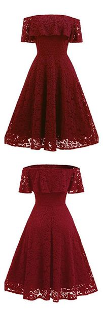 dress bordeaux red wine pretty clothes