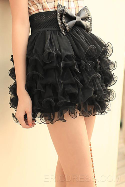 Spring New Princess Wavy Edge Multilayer Bubble Skirt(without belt) Usual Skirts- ericdress.com 10883215