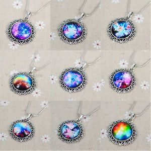 Funky Glass Galaxy Sky Handmade Photo Pendant Charm Time Friendship Necklace | eBay