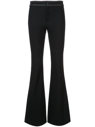 women spandex cotton black pants