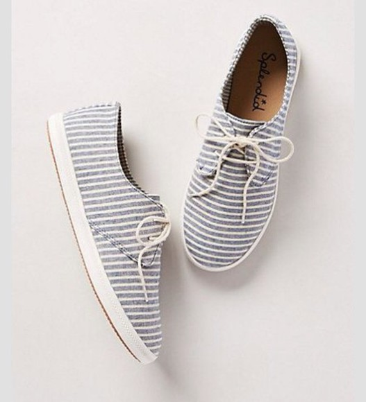 blue and white stripes shoes cute shoes
