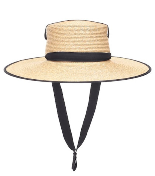 Lola Hats Zorro straw hat in beige / beige
