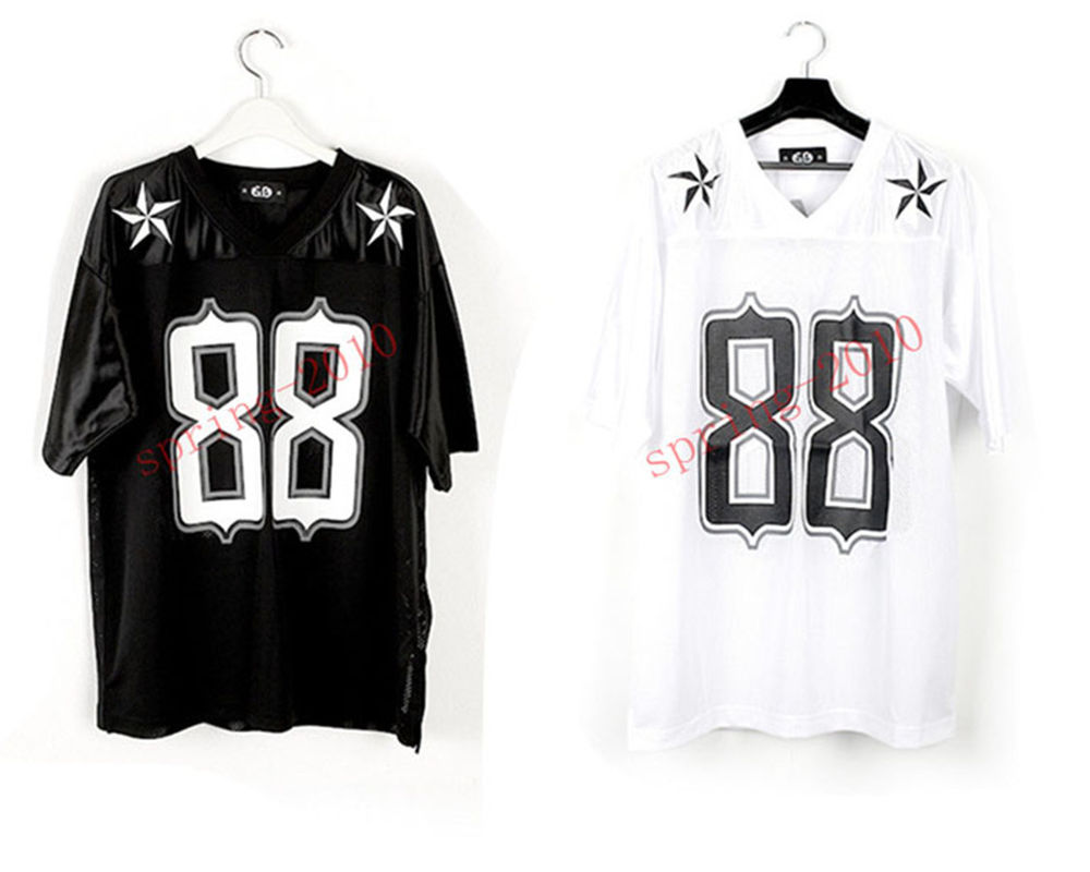 KPOP BIGBANG G Dragon GD 2013 One of A Kind 88 Football T Shirt Black White Tee | eBay