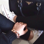 pants,sweatpants,black sweatpants,bag,prada,black,converse,leggings,bracelets,black pants,tumblr,classy