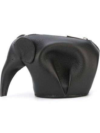 elephant purse black bag