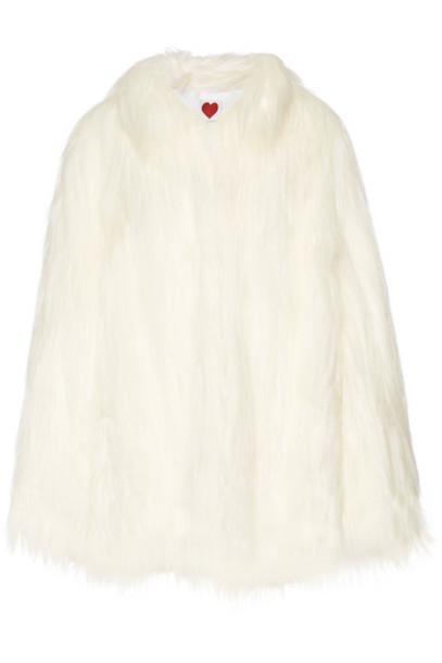 House of Fluff coat faux fur coat fur coat oversized fur faux fur white