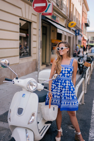 dress tumblr midi dress blue dress summer dress summer outfits sandals espadrilles sunglasses shoes
