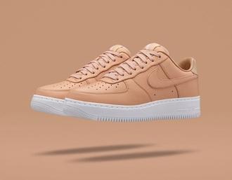 shoes nike nude nike air force 1