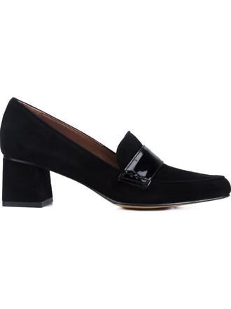 women pumps suede black shoes