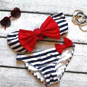 swimwear,red,royal blue,stripes,bow,clothes,summer,sunglasses,navy,white,Top Strapples,hipster bikini,bandeau bikini,bikini,black,favor,bows,cute,nautical,sailor,two-piece,bandeau,now,bow bandeau,black and white,top,bottom,heart sunglasses,kawaii,sweet,blue,stripes bow nautical