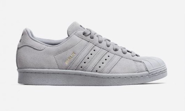 detailing buy cheaper Adidas Superstar 80s City Pack Stone Grey Berlin - Unisex Sports