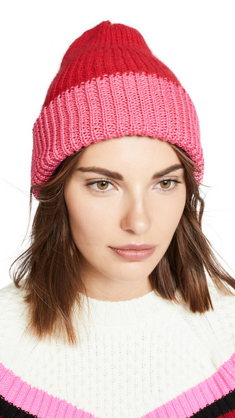 Eugenia Kim Heather Reversible Hat in pink / red