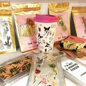 home accessory yeah bunny pink cute sweet tumbler coffee mug royal