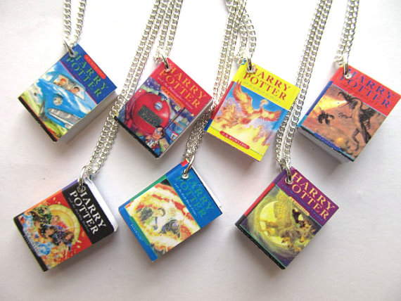 Harry Potter Necklace Book Hogwarts Miniblings by miniblings