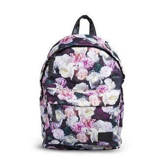 bag fusion clothing backpack floral flowers roses roses print backpack all over print cute full print prin backpack printed backpack rucksack