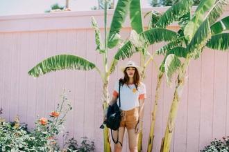 natalie off duty blogger t-shirt shorts dress sunglasses skirt shoes