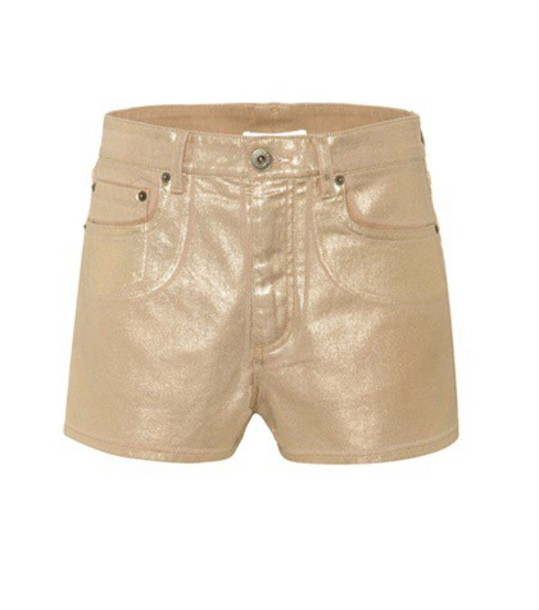 Chloé Exclusive to mytheresa.com – coated denim shorts in gold