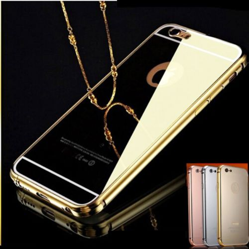 comprare on line a6679 63859 Mirror Back Aluminum Metal Bumper Chrome Case Cover for iPhone 6 6 Plus 5S  Hot | eBay