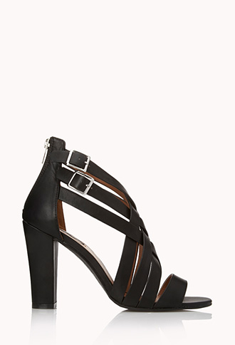 Posh Play Strappy Sandals | FOREVER21 - 2000125604