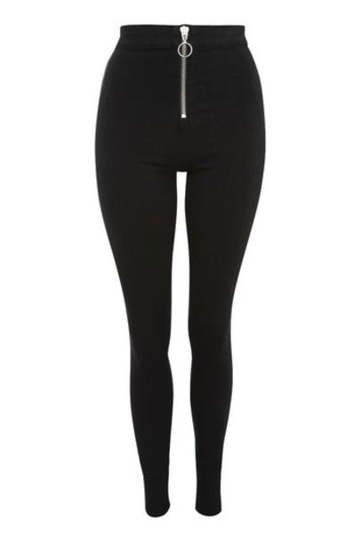 Topshop jeans zip black