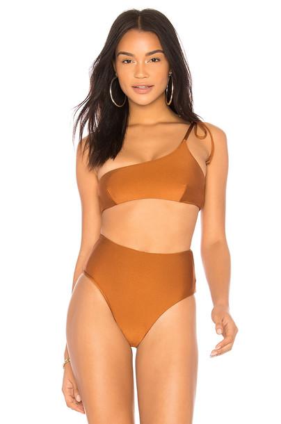 Midsommar Swim bikini bikini top metallic bronze swimwear