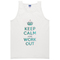 Keep calm and work out tanktop - basic tees shop