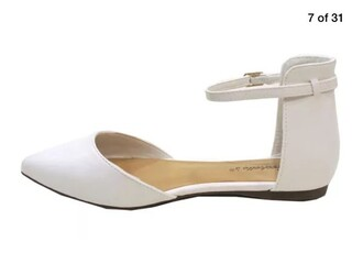 shoes white off-white ankle strap flats breckelle's sandals flats flat sandals
