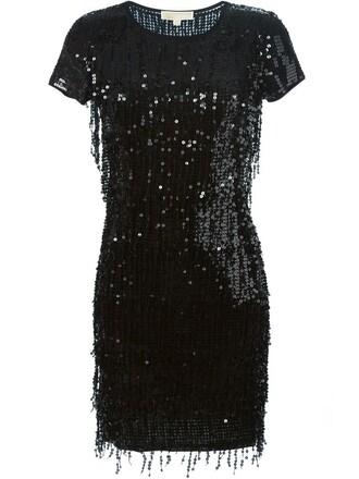 dress sequin dress women plastic black
