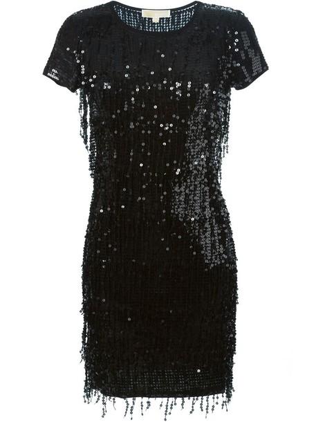 MICHAEL Michael Kors dress sequin dress women plastic black