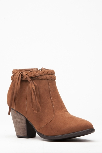 shoes chestnut brown tan western vegan suede booties heels boots cicihot suede boots