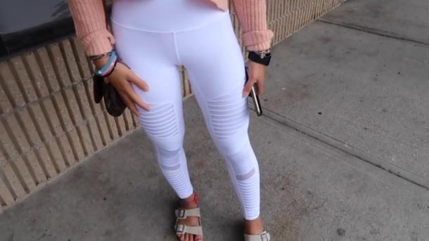 pants white leggings