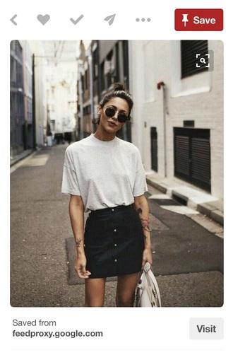 skirt black skirt denim high waisted button up denim skirt