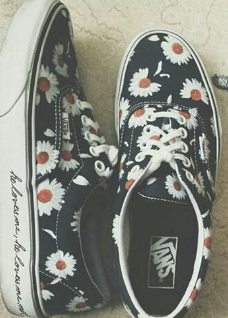 shoes vans daisy swag daisy vans flowers vintage vans of the wall best