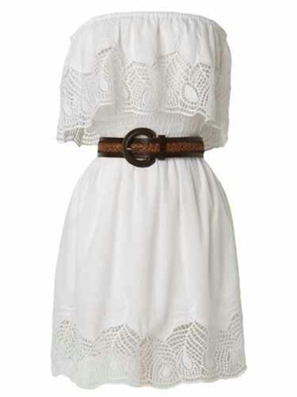 dress white dress country country dress belt lace