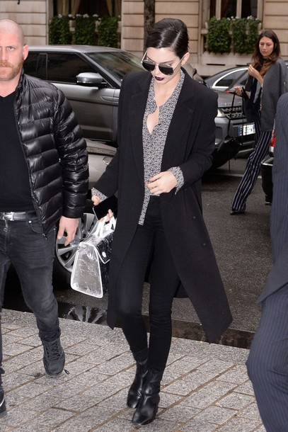 Blouse Sunglasses Paris Fashion Week 2016 Streetstyle Kendall Jenner Purse Fashion Week