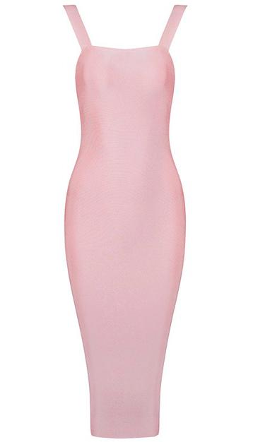 Midi Bandage Dress Pink