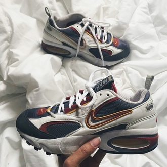 shoes yellow white blue red vintage nike nike air