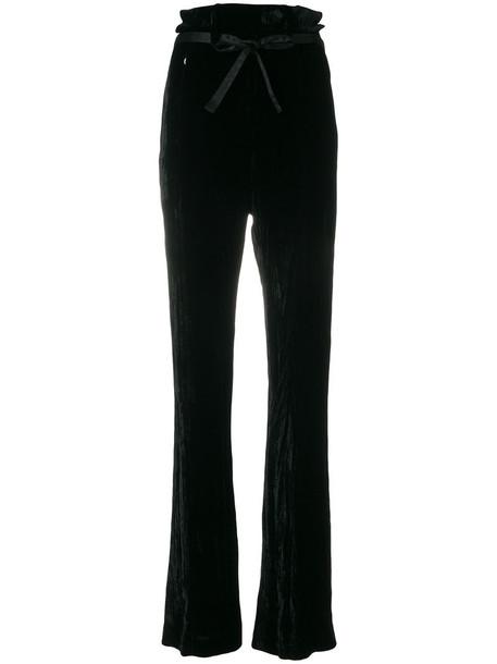 ANN DEMEULEMEESTER high women black silk pants