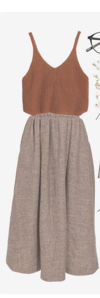 skirt brown maxi skirt high waisted