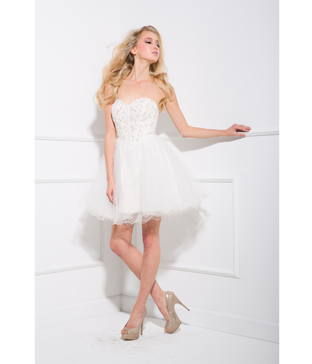 White Short Tulle Dress
