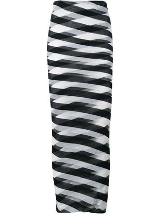 skirt striped skirt long blue